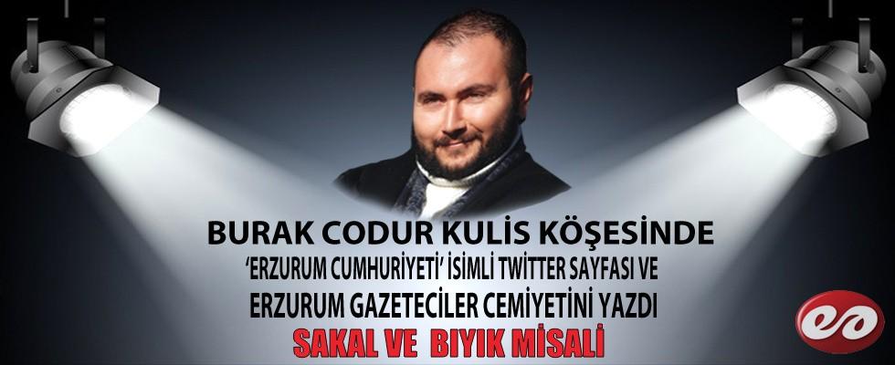 Burak Codur Kulis Köşesinde ''Erzurum Cumhuriyeti'' Ve Erzurum Gazeteciler Cemiyetini Yazdı