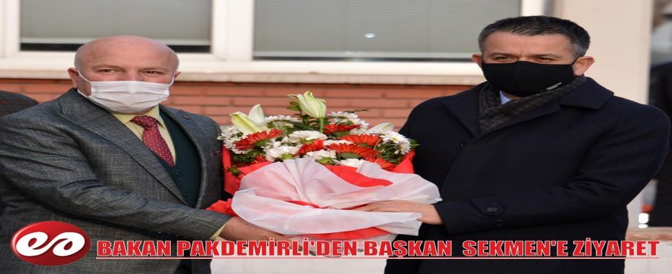 TARIM VE ORMAN BAKANI DR. PAKDEMİRLİ'DEN BÜYÜKŞEHİR'E ZİYARET
