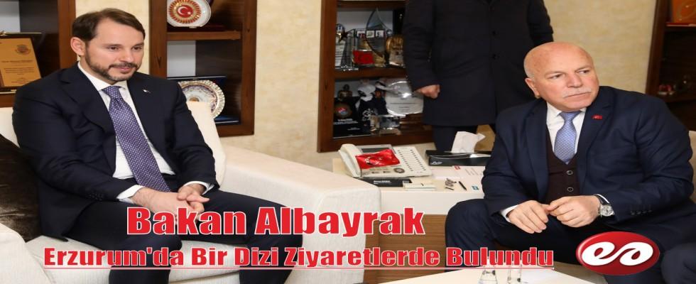 Bakan Albayrak Erzurum'da Ziyaretlerde Bulundu