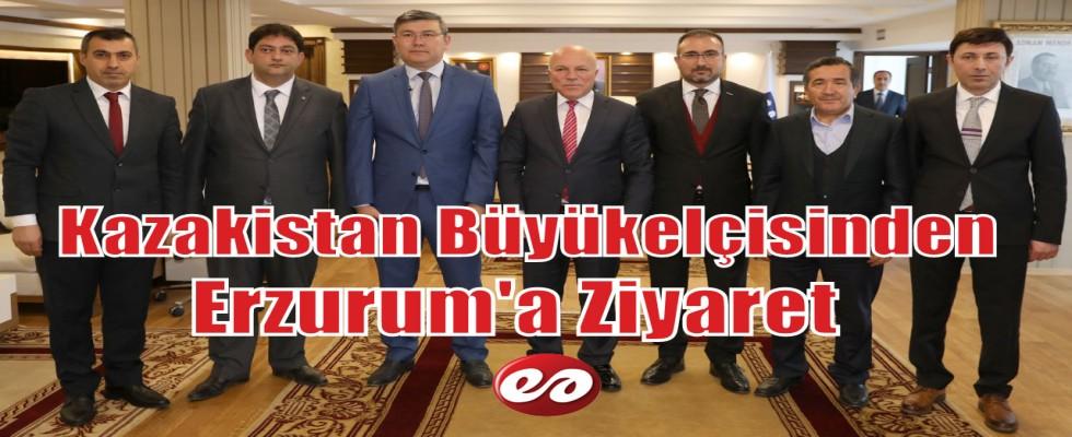 Büyükelçi Saparbekuly'den Erzurum'a Ziyaret