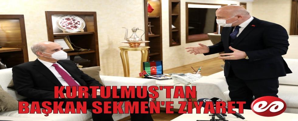 AK PARTİ GENEL BAŞKANVEKİLİ PROF. DR. KURTULMUŞ'TAN BÜYÜKŞEHİR'E ZİYARET
