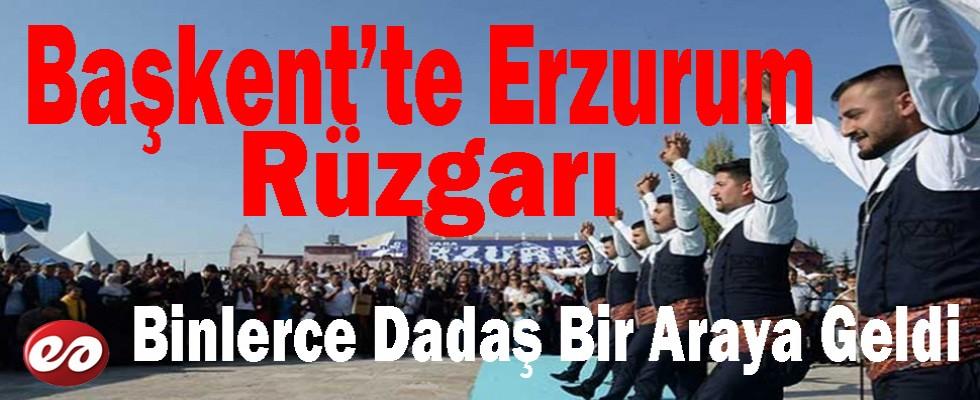 Başkentte Erzurum Rüzgarı Esti