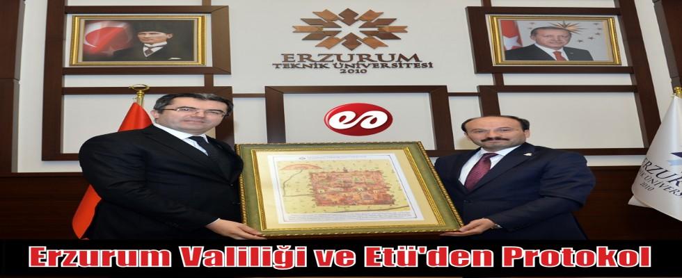 Erzurum Valiliği ve Etü'den Protokol