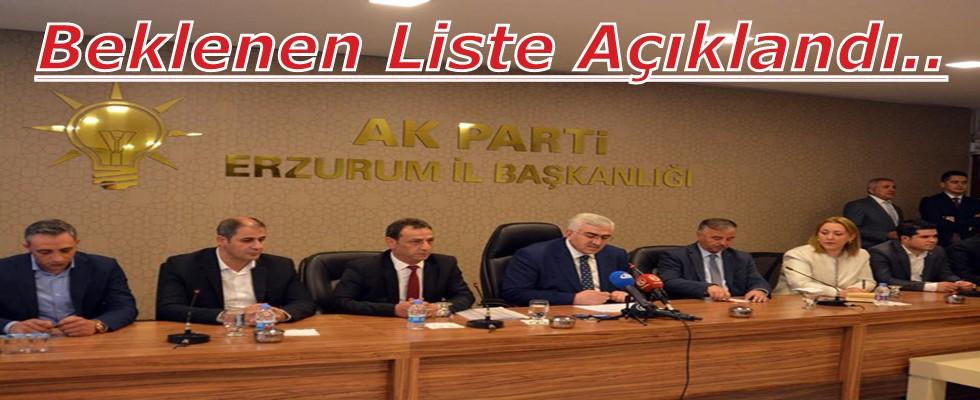 Ak Parti Erzurum Milletvekili Aday Adayları Açıklandı..!
