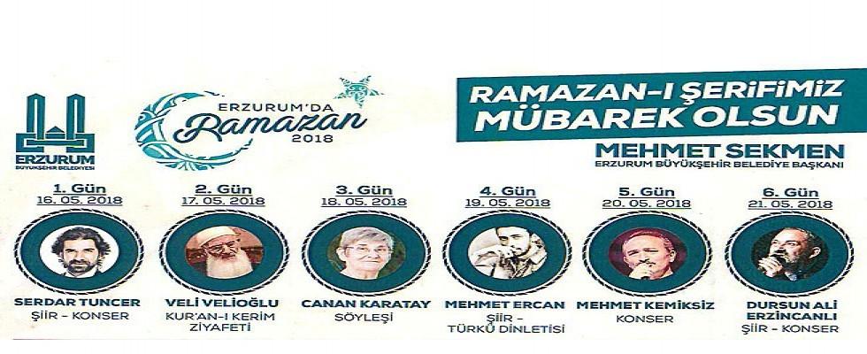 Erzurum'da Ramazan Dolu Dolu