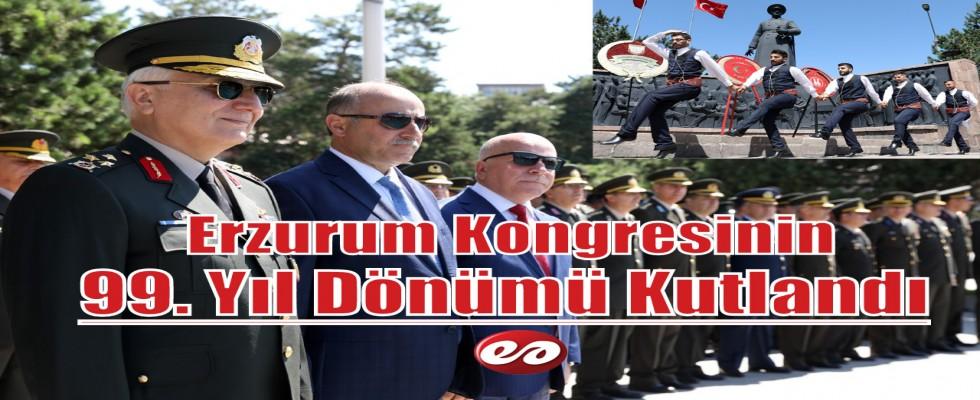 Erzurum Kongresinin 99. Yıl Dönümü Coşkuyla Kutlandı