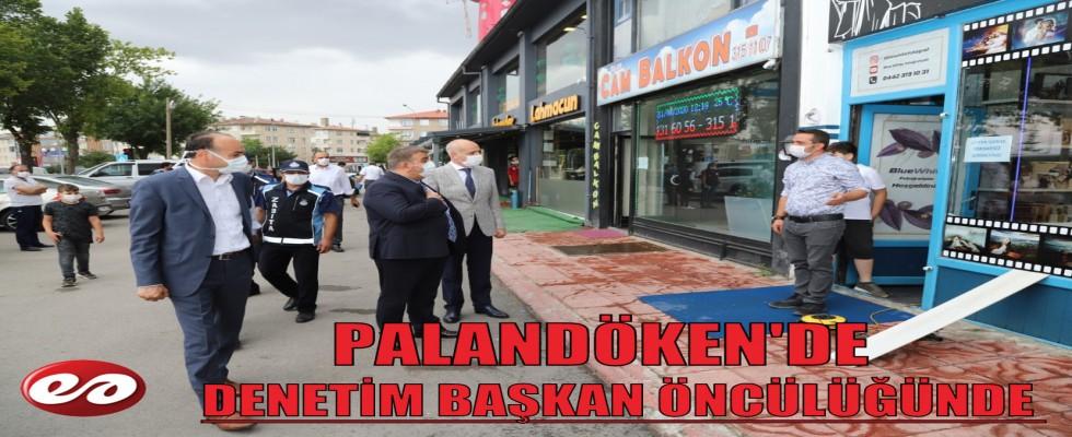 PALANDÖKEN'DE DENETİM TÜM HIZIYLA