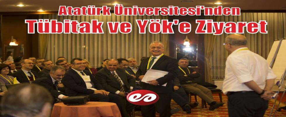 Atatürk Üniversitesinden TÜBİTAK ve YÖK Kalite Kuruluna Ziyaret