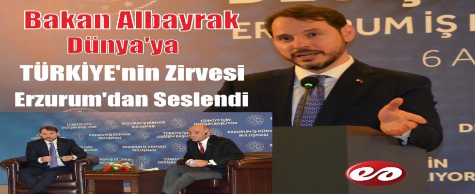 Bakan Albayrak Dünya'ya Erzurum'dan Seslendi