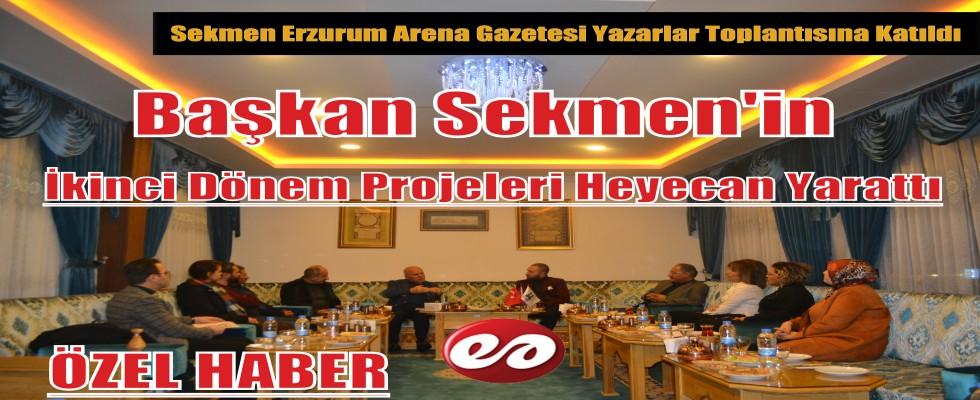 Erzurum Büyükşehir Belediye Başkanı Mehmet Sekmen Erzurum Arena Gazetesi Yazarları İle Bir Araya Geldi