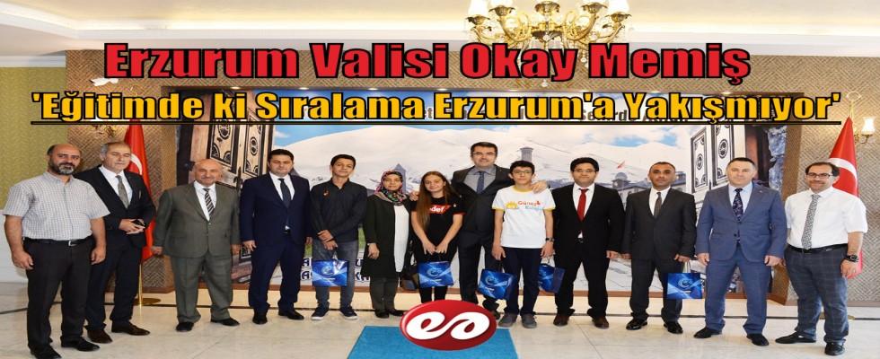 Vali Memiş: Eğitimdeki Sıralama Erzurum'a Yakışmıyor
