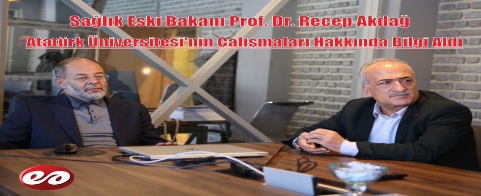 Prof. Dr. Recep Akdağ Atatürk Üniversitesinin Çalışmalarını İnceledi