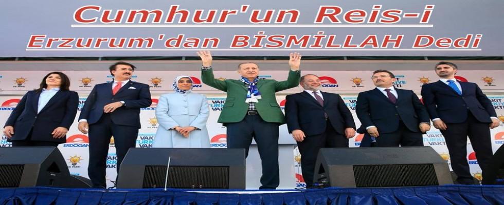 Cumhurbaşkanı Erdoğan Erzurum'da On Binlere Hitap Etti