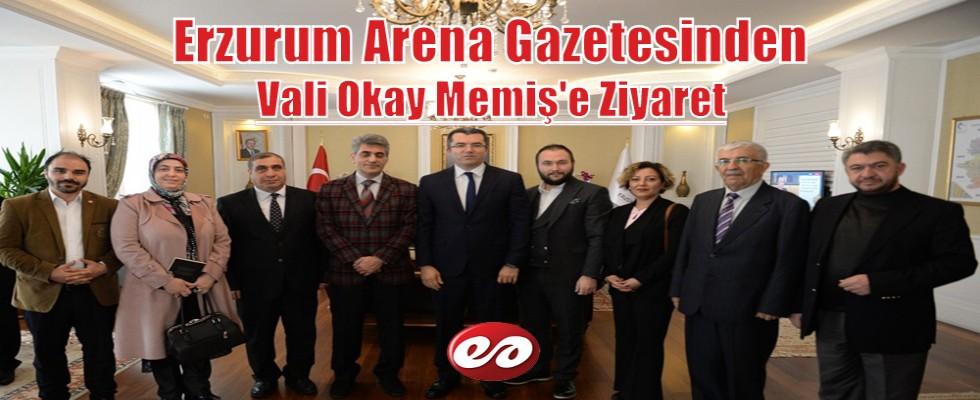Erzurum Arena Gazetesinden Vali Memiş'e Ziyaret