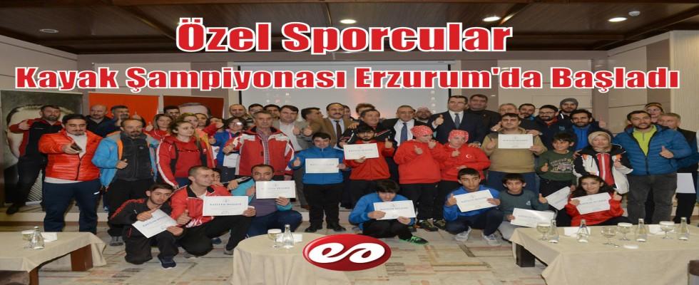 Özel Sporcular Kayak Şampiyonası Erzurum'da Başladı