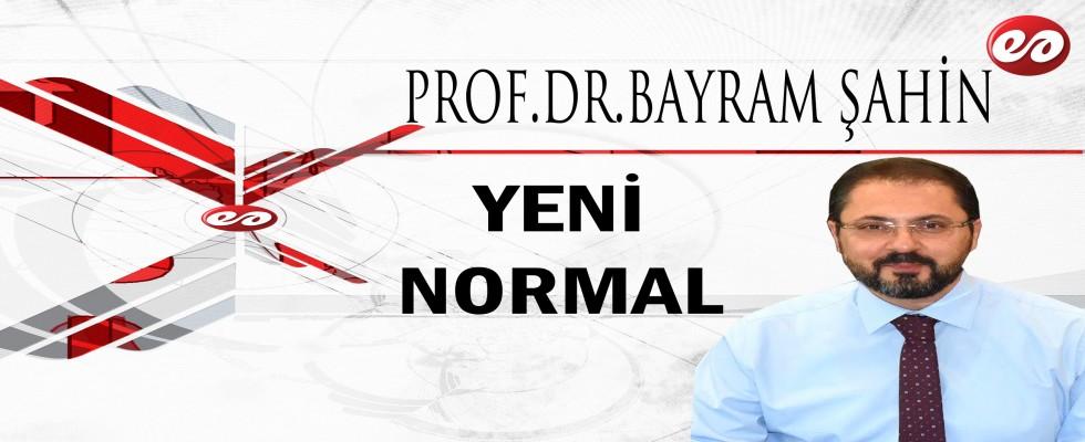 ''YENİ NORMAL'' PROF. DR. BAYRAM ŞAHİN'İN KALEMİNDEN