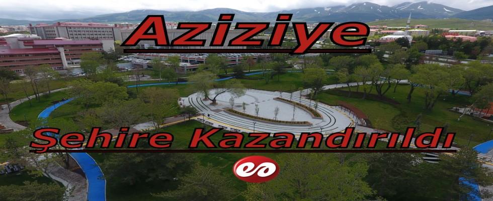 Büyükşehir'den Aziziye Parkına Özel Peyzaj