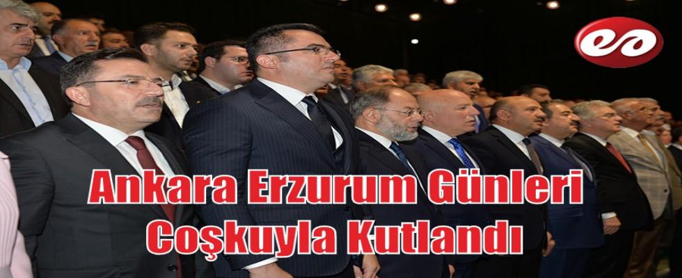 Ankara Erzurum Günleri Coşkuyla Kutlandı