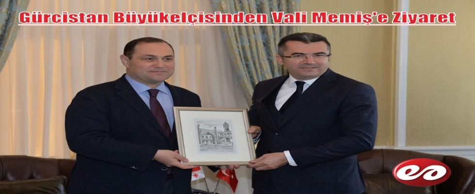Gürcistan Büyükelçisinden Vali Memiş'e Ziyaret