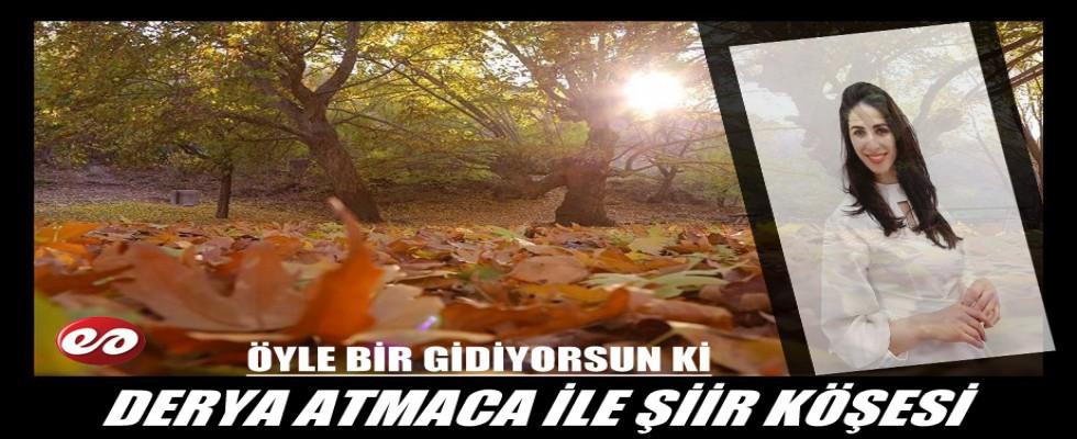 DERYA ATMACA İLE ŞİİR KÖŞESİ ''ÖYLE BİR GİDİYORSUN Kİ''